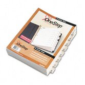Quickstep Onestep Bulk Index System, Title: 1-8, Letter (24 Sets/Box)