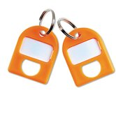 0.75 x 1 Replacement Key Tags, 3/4 X 1, Plastic (8/Pack)