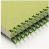 "Carla Craft 12"" 9mm Binding System Spiral Ring in Olive Green"