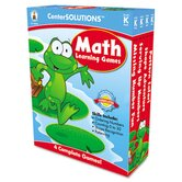 Math Learning Games,4 Game Boards, 2-4 Players, Grade K