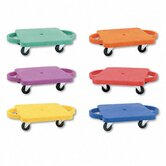 Scooter Set Wswivel Casters, Plastic/Rubber ( Set of 6)