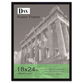 Flat Face Wood Poster Frame with Plexiglas Window