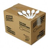 Plastic Cutlery, Mediumweight Teaspoons, 1000/Carton