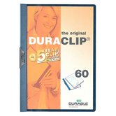 "DuraClip Report Cover, 60 Sheet Capacity, 11""x8-1/2"", Graphite"