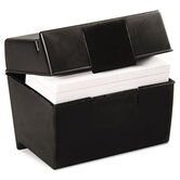 Oxford Plastic Index Card Flip Top File Box Holds 400 4 x 6 Cards
