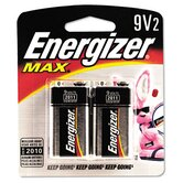 Alkaline Batteries, 9V, 2/pack