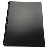 100% Recycled Poly Binding Cover, 8 1/2 x 11, Black, 25/Pack