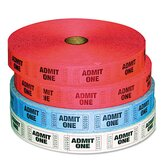 Pm Company Admit-One Ticket Multi-Pack, 4 Rolls, 2000/Roll