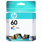 CC643WN (HP60) Inkjet Cartridge, Tri-Color