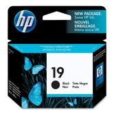 Ink Jet Printer Cartridge, HP 19, 485 Page Yield, Black