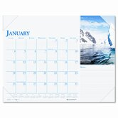 Earthscapes Monthly Desk Pad Calendar, 22 x 17