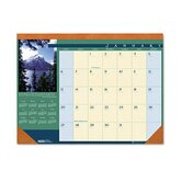 Landscapes Monthly Desk Pad Calendar, 22 x 17, 2013