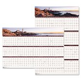 Earthscapes Coastline Scenes Reversible/Erasable Yearly Wall Calendar, 24 x 37