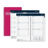 "Wirebound Monthly/Weekly Pocket Planners, Mon/Wkly, 12 Mos, 3""x6"", RD, 2013"