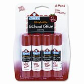 Washable School Glue Sticks, .24oz, Repositionable Stick, Four/pack