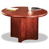 "Round Bullnose Conference Room Table Top, 48"" Diameter, Mahogany"