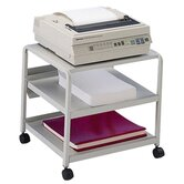 "Mobile Printer Stand, w/ Casters, 21""x16""x19"", Platinum"