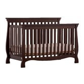 Venetian 4 in 1 Fixed Side Convertible Crib in Espresso