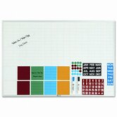 Lustreboard Planning Kit, Porcelain-on-Steel, 36x24, White/Aluminum