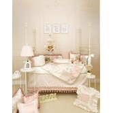 Madison 5 Piece Crib Bedding Set with Pink and Tan Check Pillow