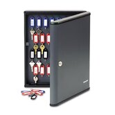 Locking 60-Key Cabinet, 11 3/4w x 2 3/8d x 14 3/4h, Charcoal Gray