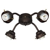 Four Light Ceiling Fan Light Fitter - Energy Star