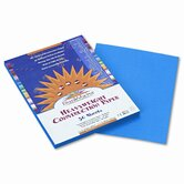 SunWorks Construction Paper, Heavy, 9 x 12, Bright Blue, 50 Sheets