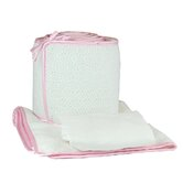 Tadpoles White Eyelet Cradle Set in Pink Trim