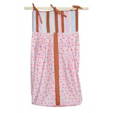 Field of Flowers Diaper Stacker in Pink and Periwinkle