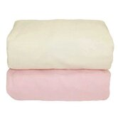Tadpoles Organic Flannel Fitted Crib Sheets in Pink and Natural (Set of 2)