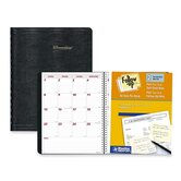 "Monthly Planner, 14-Month, Dec-Jan, 11""x8-1/2"", Black, 2013"