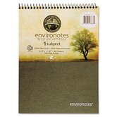 Environotes Wirebound Notebook, 8 1/2 x 11 1/2, Flipper, 80 Sheets, College Rule