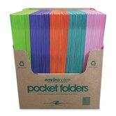 Two Pocket Folders, 11-3/4&quot;x9-1/2&quot;, 100 per Carton, Dual Color