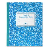 Grade School Ruled Composition Book, 9-3/4 x 7-3/4, 50 Sheets, Blue