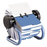 Colored Open Rotary Business Card File