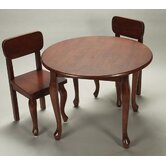 Queen Anne Kids 3 Piece Table and Chair Set