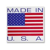 Shipping Label, Made In The Usa, 500 per Roll, RWB