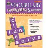 Vocabulary Puzzles & Activities Gr5