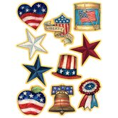 Sw Patriotic Accents 30pk 3 Designs