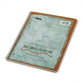Second Nature Subject Wirebound Notebook, College Rule, Letter, 50 Sheets