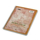 Second Nature Subject Wirebound Notebook, Quadrille Rule, Letter, 80-Sheet