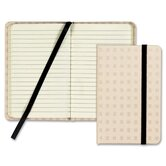 Designer Notebook, Tan Cover, Ruled, 5-1/2x3-1/2, Premium Ivory, 96 Sheets