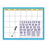 "Reusable Calendar Kit, w/ Cling Numerals Wipe Off, 17""x22"", 2013"