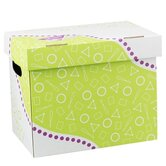 "Folder/File Storage Box, Letter Sizes, 12-1/4""x8""x10-1/4"""