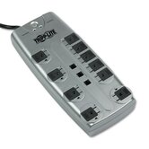 Protect It! Surge Suppressor, 10 Outlet, 8ft Cord, w Tel/DSL, 2395 Joules