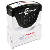 Accustamp2 Shutter Stamp with Microban, Red/Blue, FAXED, 1 5/8 x 1/2