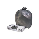 Industrial Strength Low-Density Commercial Can Liners, 60 gal, .7mil,BLK,100/ctn