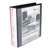 Round Ring Economy Vinyl View Binder, 2in Capacity, Black