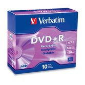 DVD+R, 4.7GB, 16x, 120 min, Branded, 10 per Pack, Silver