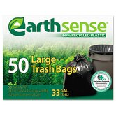 (50 per Carton) 33 Gallon EarthSense Recycled Can Liners